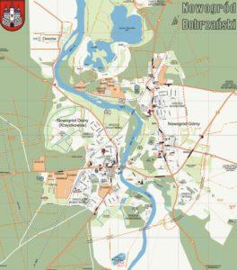 Mapa poglądowa Miasta Nowogród Bobrzański