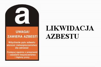 baner - likwidacja azbestu