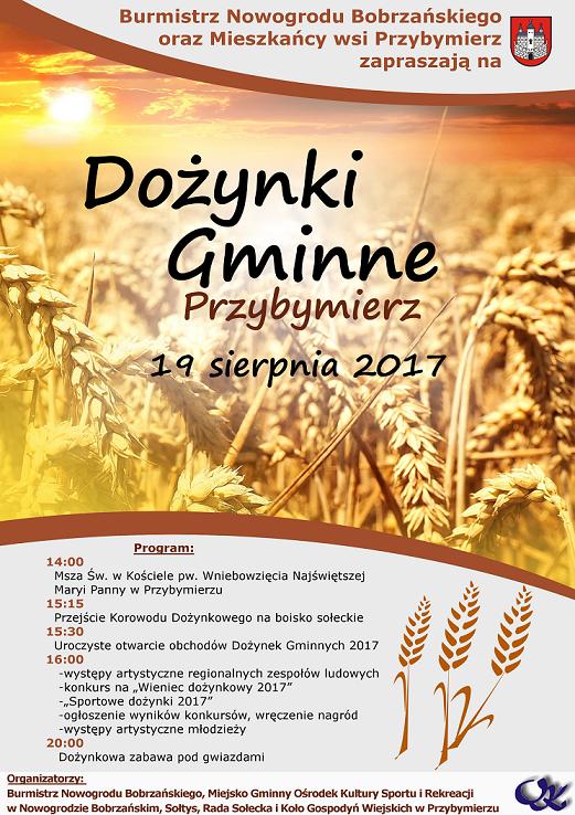 Dożynki 2017 w Przybymierzu