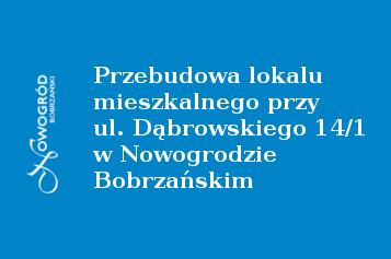 przebudowa lokalu dąbrowskiego