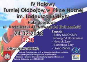 IV Halowy Turniej Oldbojów w Piłce Nożnej im.Tadeusza Budzyły @ Hala Sportowa ul. Kościuszki 41