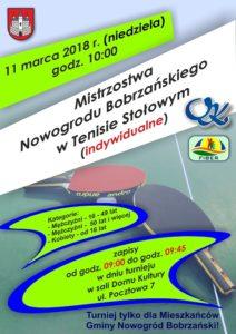 Mistrzostwa Nowogrodu Bobrzańskiego w Tenisie Stołowym @ ul. Pocztowa 7
