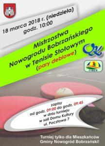 Mistrzostwa Nowogrodu Bobrzańskiego w Tenisie Stołowym – pary deblowe @ ul. Pocztowa 7