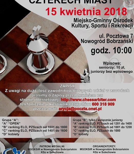 szachy plakat turniej miast