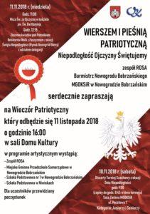 plakat obchodów dnia niepodległości