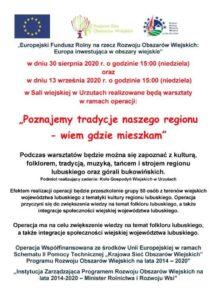 """Warsztaty """" Poznajemy tradycje naszego regionu-wiem gdzie mieszkam"""" @ Sala Wiejska w Urzutach"""
