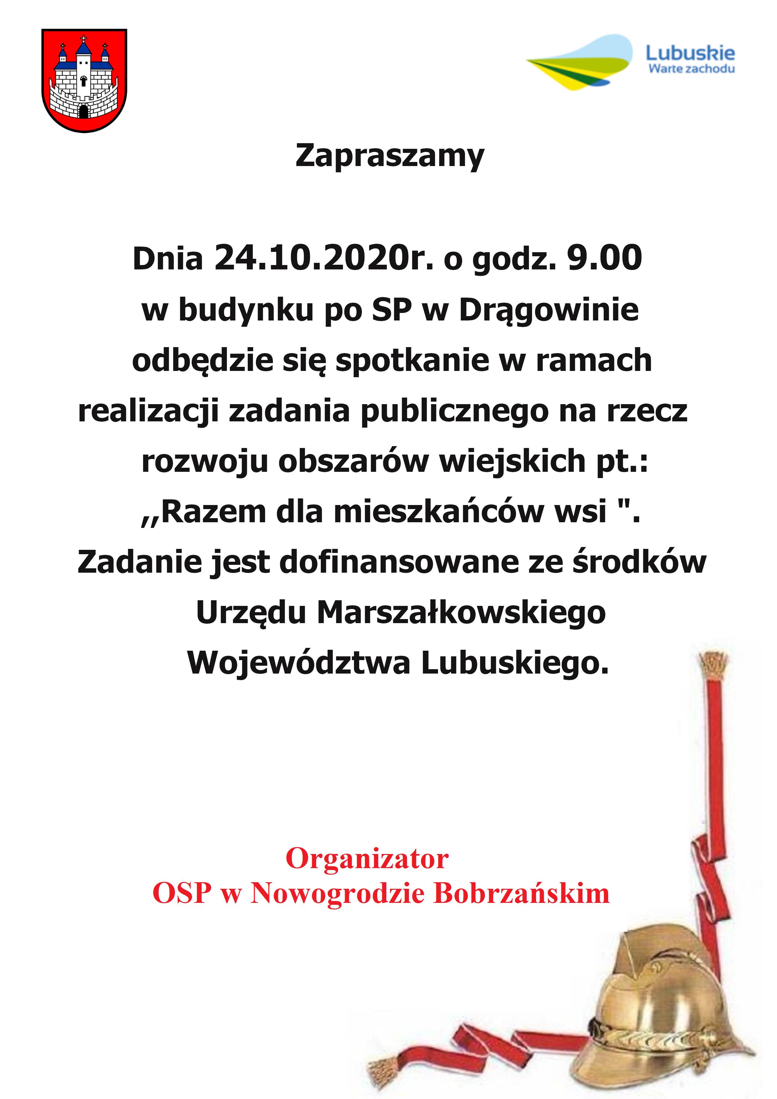 Razem dla mieszkańców wsi. @ Budynek po SP Drągowina